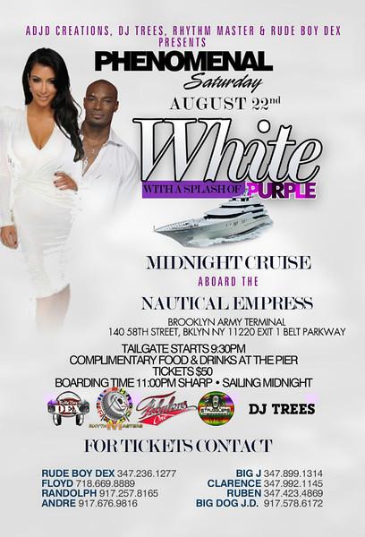 "08/22/15 Phenomenal ""White w/ Touch of Purple"""